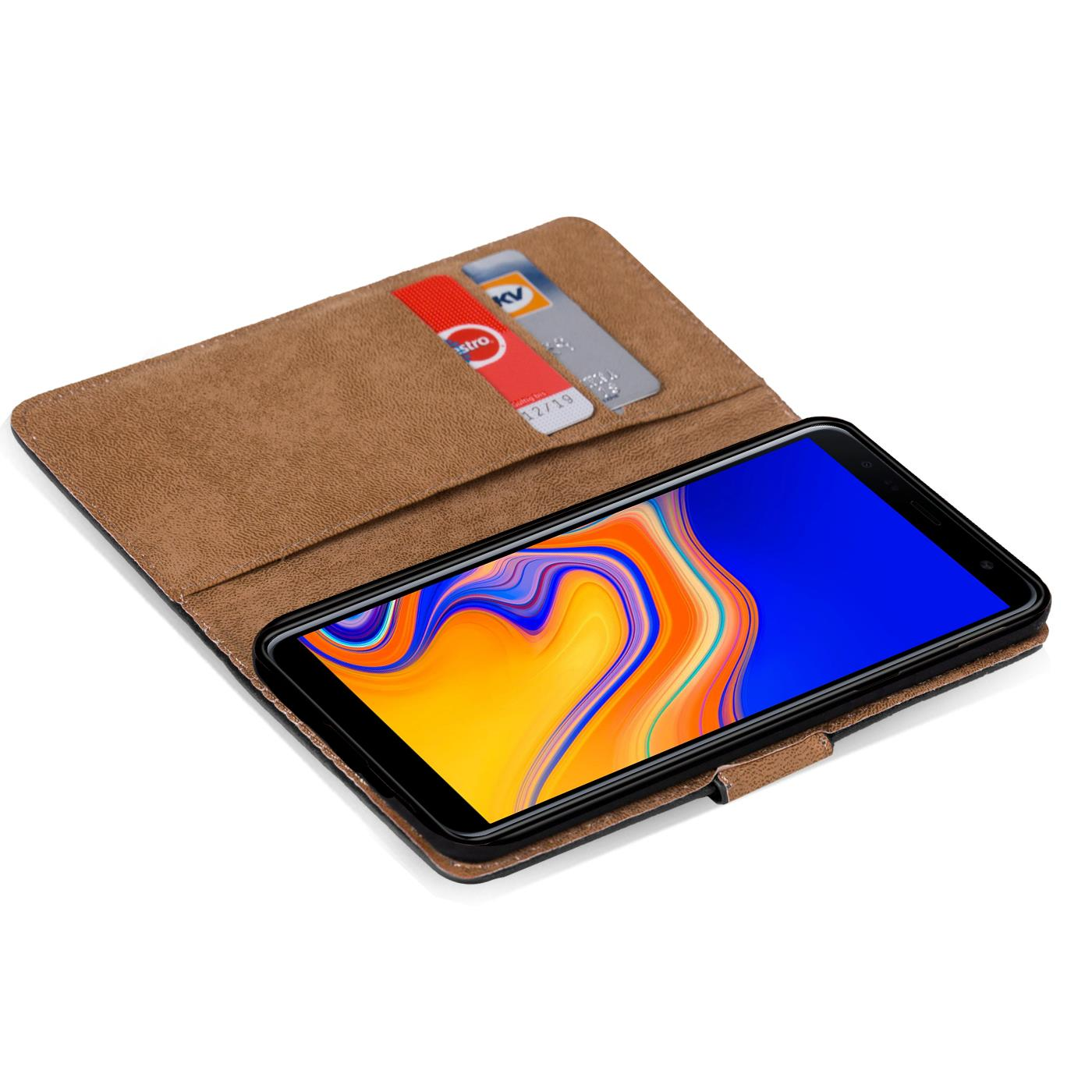 Samsung-Galaxy-J4-Plus-Handy-Klapp-Tasche-Schutz-Huelle-Book-Flip-Cover-Case-Etui Indexbild 16