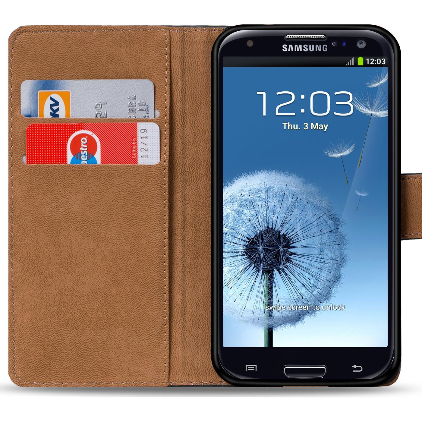 Book-Case-Samsung-Galaxy-S3-Neo-Huelle-Tasche-Flip-Cover-Handy-Schutz-Etui-Rot