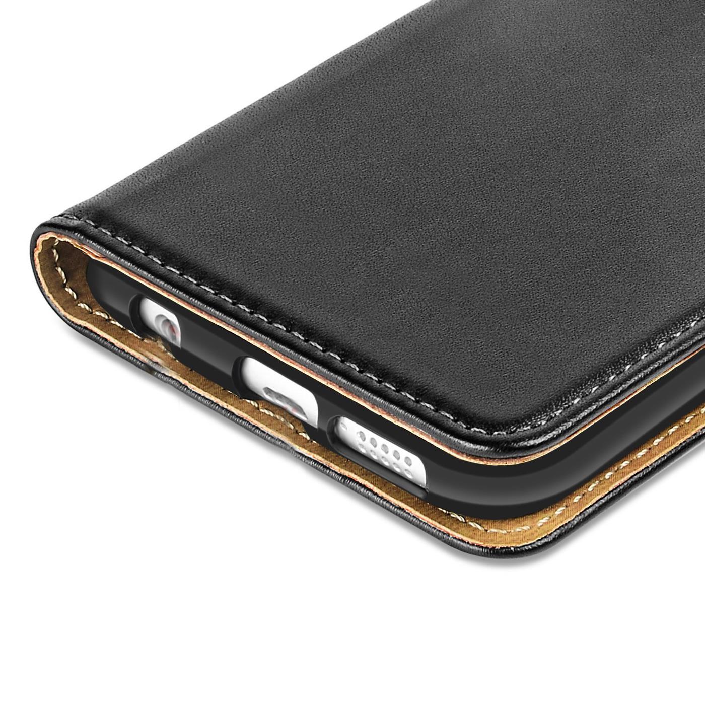 Book-Case-Samsung-Galaxy-s6-edge-Plus-Sac-etui-Flip-Cover-pour-Telephone-Portable-etui-Noir miniature 5