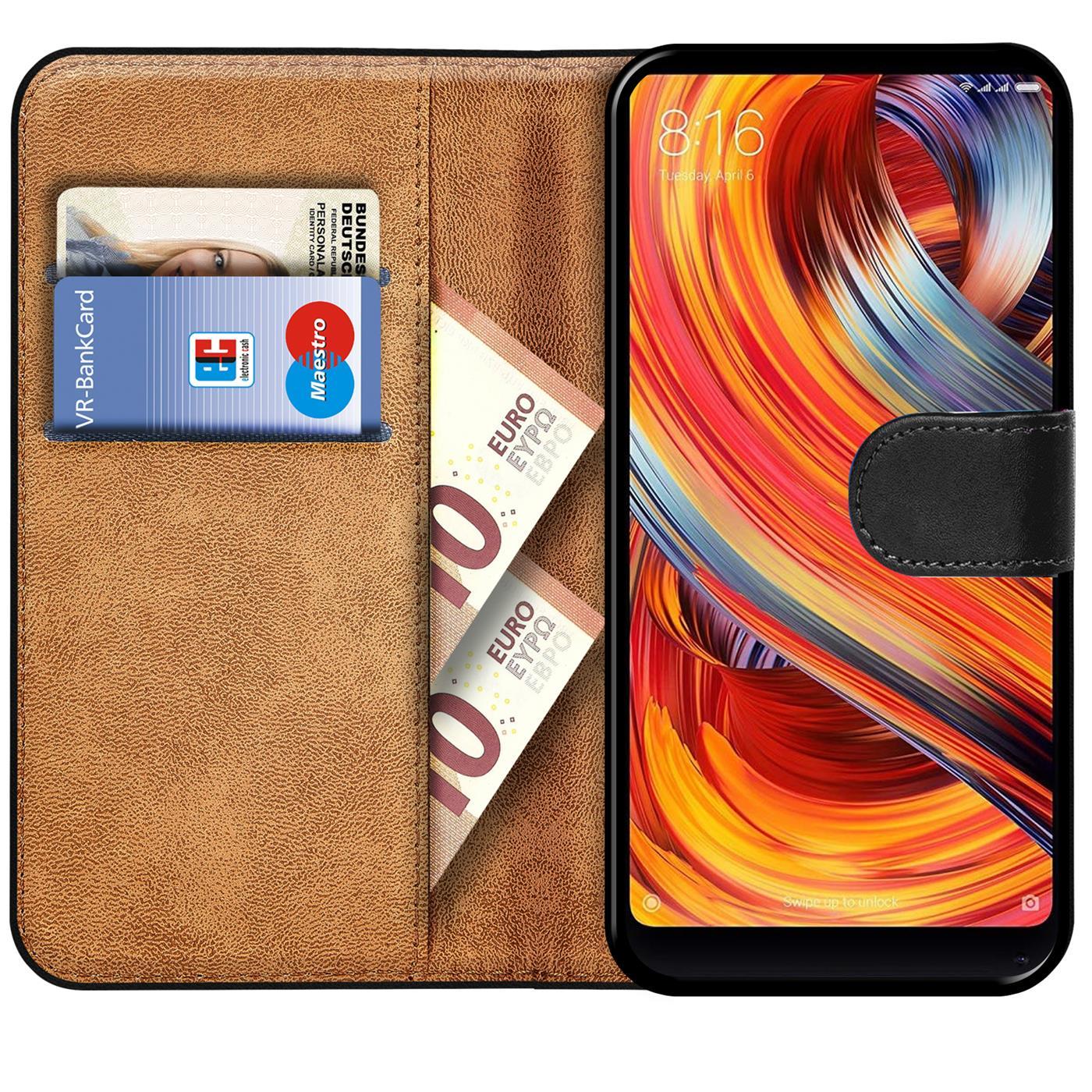 Indexbild 9 - Book-Case-fuer-Xiaomi-Mi-Mix-2-Huelle-Tasche-Flip-Cover-Handy-Schutz-Huelle