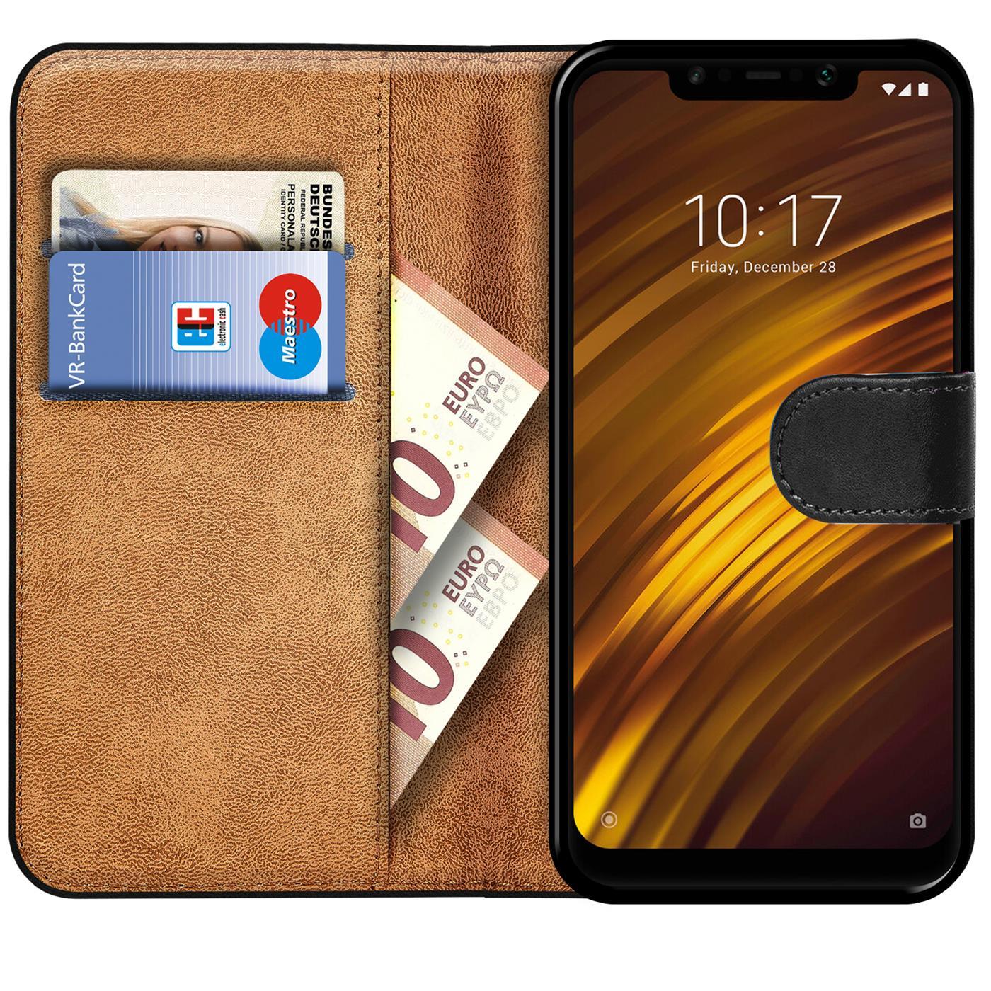Book-Case-fuer-Xiaomi-Pocophone-F1-Huelle-Tasche-Flip-Cover-Handy-Schutz-Huelle Indexbild 9