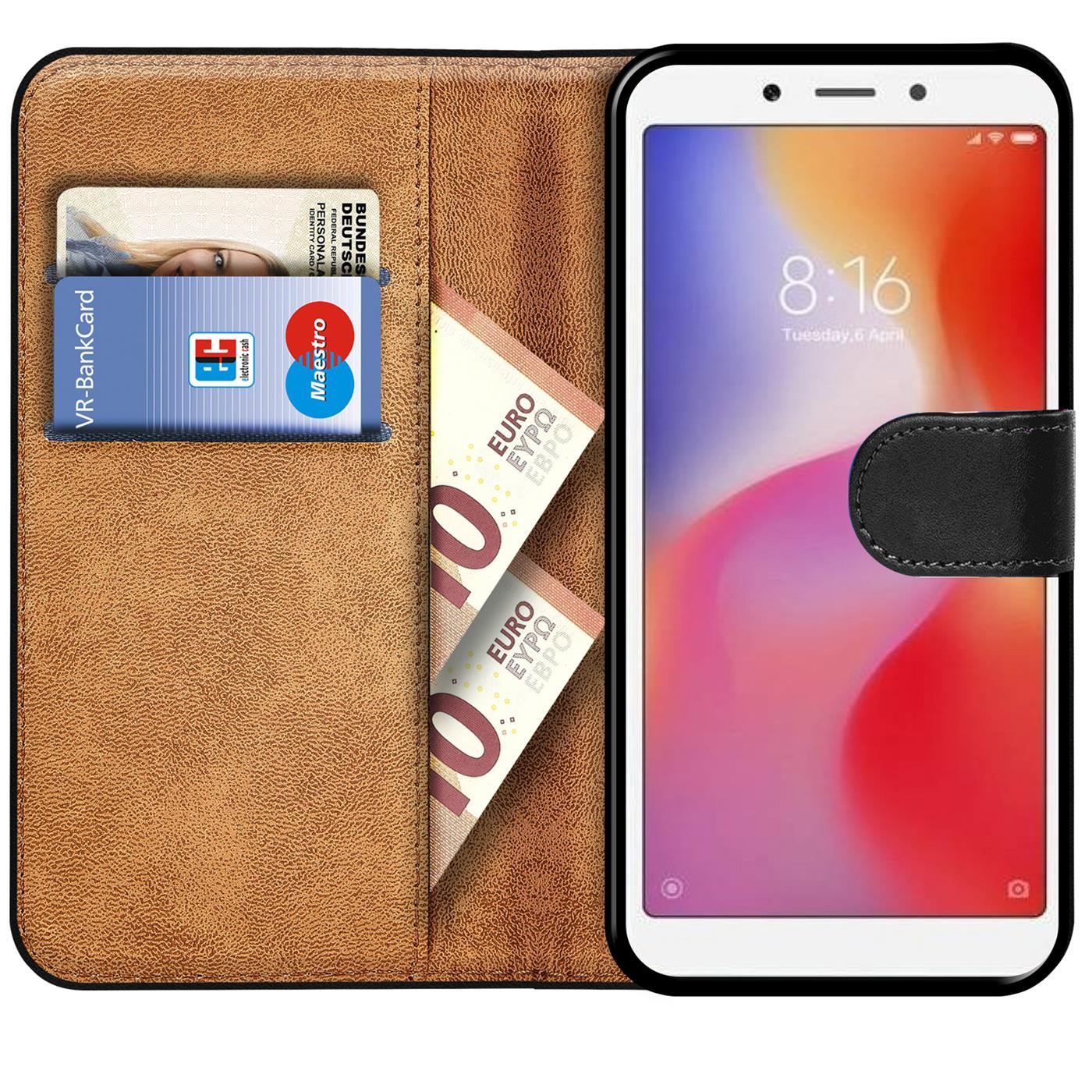 Book-Case-fuer-Xiaomi-Redmi-6a-Huelle-Tasche-Flip-Cover-Handy-Schutz-Huelle Indexbild 9