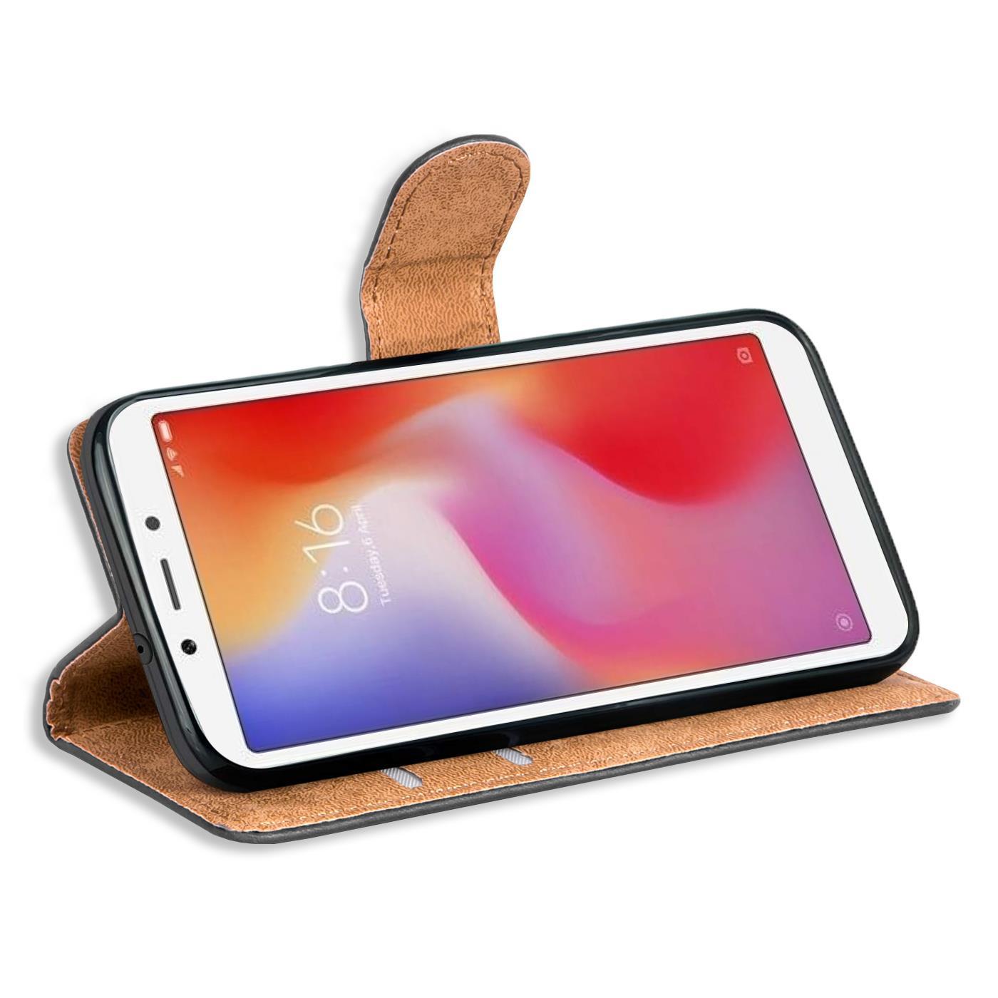 Book-Case-fuer-Xiaomi-Redmi-6a-Huelle-Tasche-Flip-Cover-Handy-Schutz-Huelle Indexbild 10
