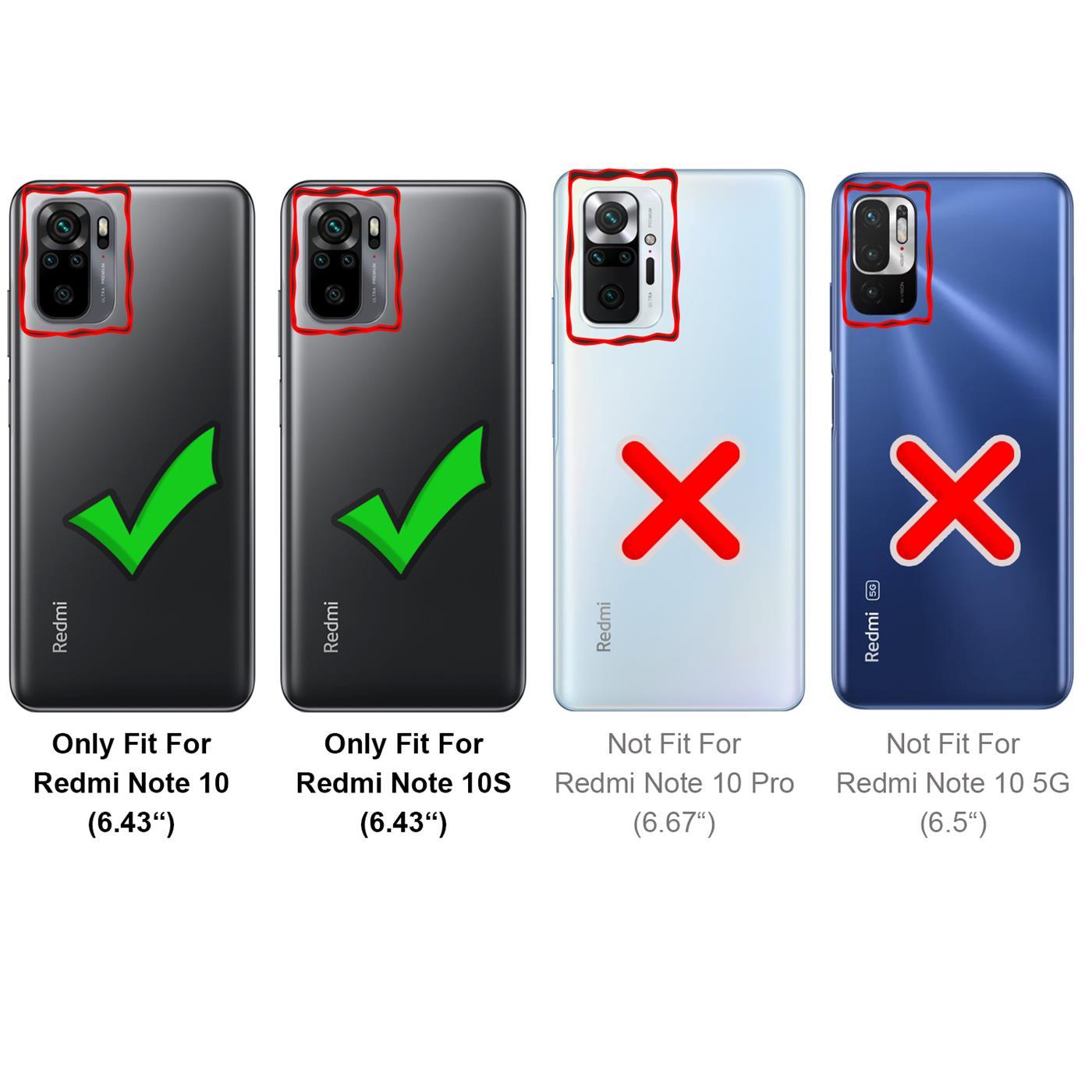 Indexbild 10 - Book Case für Xiaomi Redmi Note 10 / 10S Hülle Flip Cover Handy Schutz Tasche