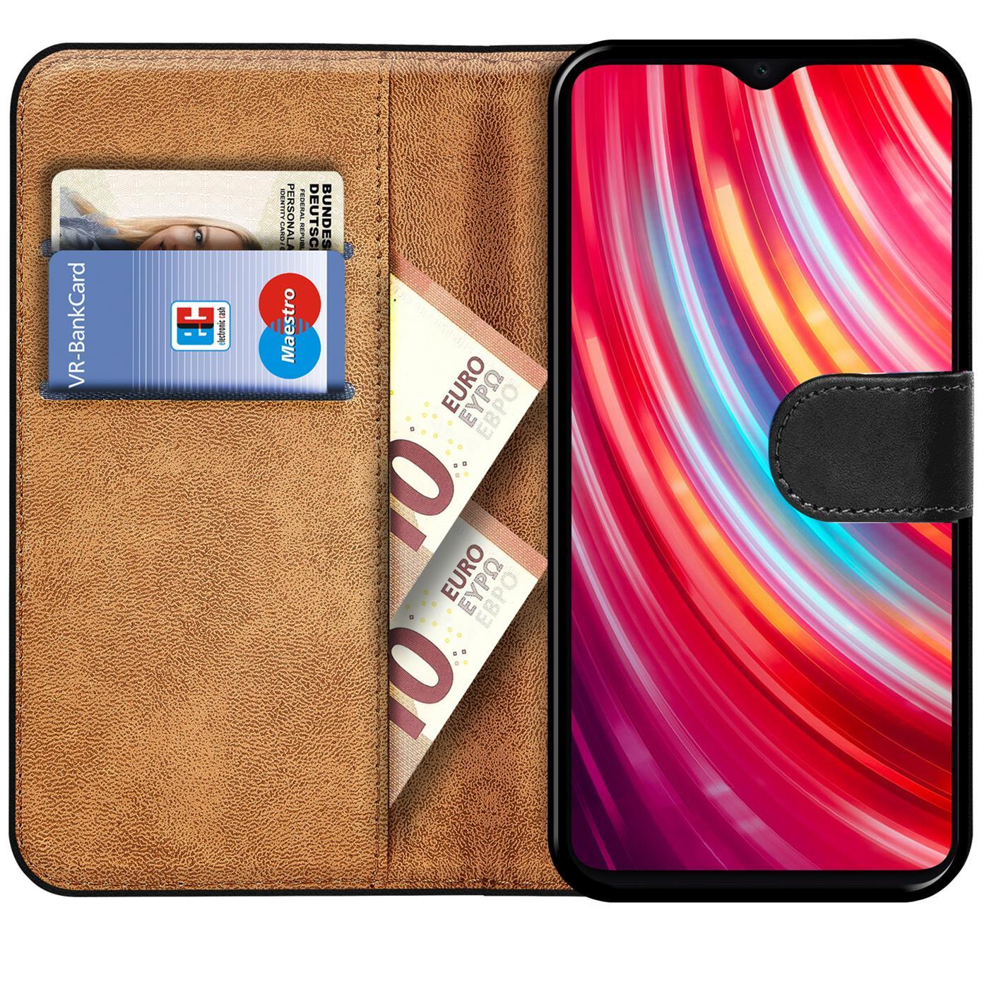 Indexbild 9 - Book-Case-fuer-Xiaomi-Redmi-Note-8-Pro-Huelle-Tasche-Flip-Cover-Handy-Schutz-Huelle