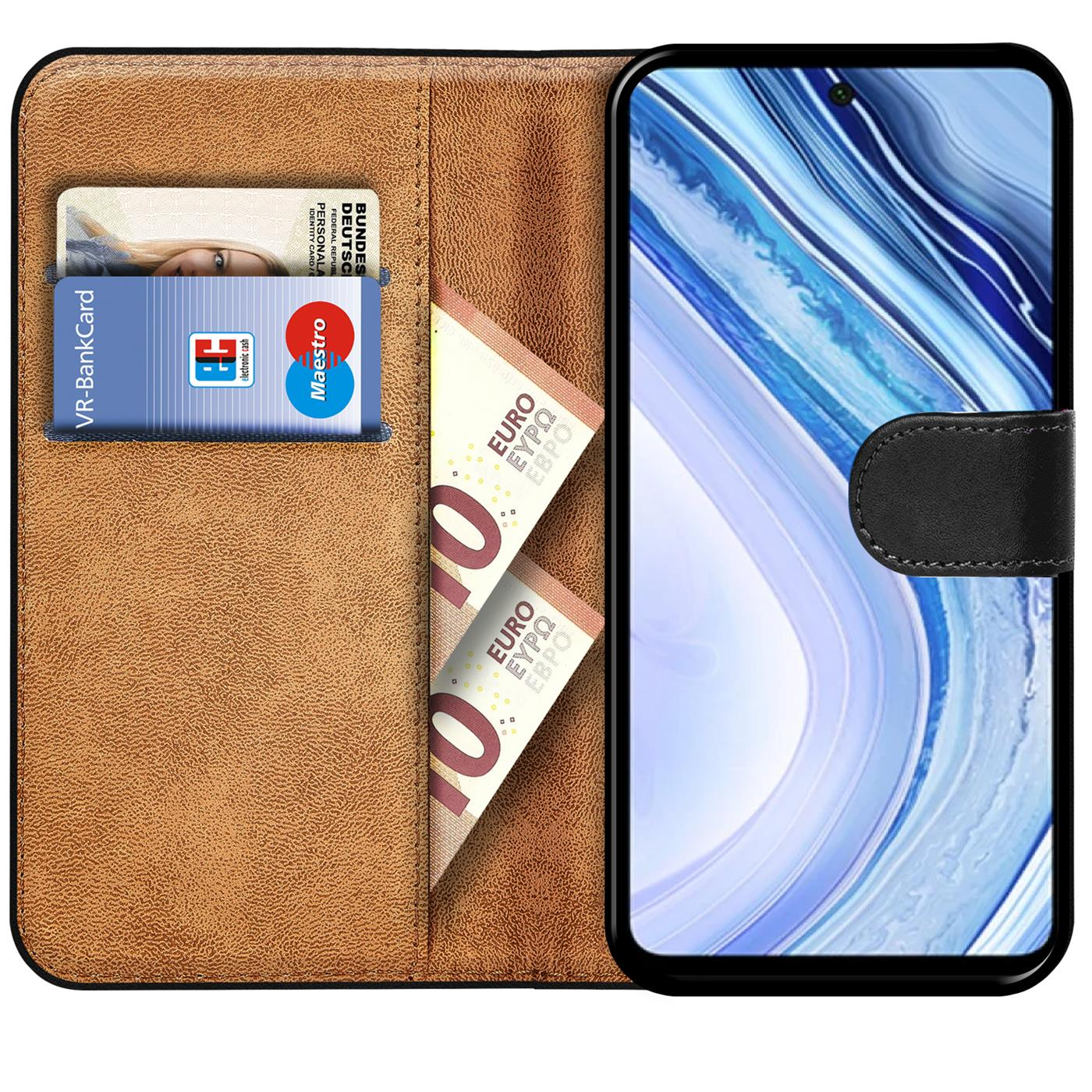miniatura 9 - Book Case für Xiaomi Redmi Note 9 Pro / Note 9S Hülle Handy Tasche Flip Cover