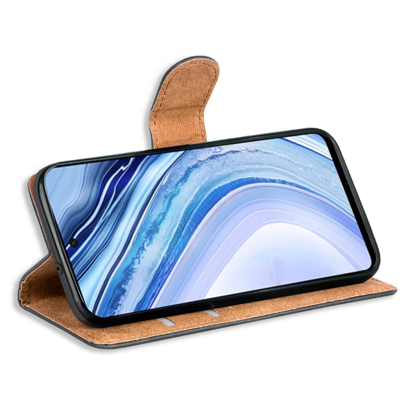 miniatura 10 - Book Case für Xiaomi Redmi Note 9 Pro / Note 9S Hülle Handy Tasche Flip Cover