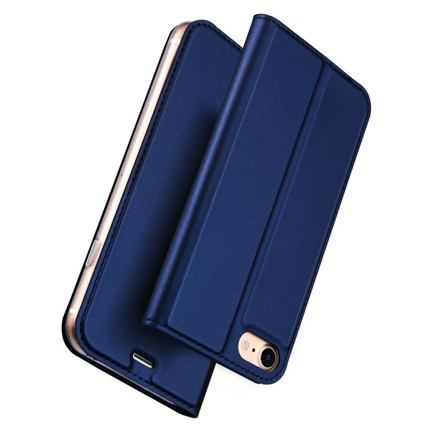 Handy-Huelle-fuer-iPhone-7-iPhone-8-Book-Case-Schutzhuelle-Tasche-Slim-Flip-Cover Indexbild 12