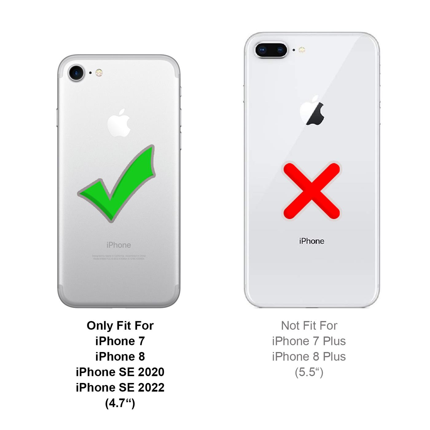 Handy-Huelle-fuer-iPhone-7-iPhone-8-Book-Case-Schutzhuelle-Tasche-Slim-Flip-Cover Indexbild 16