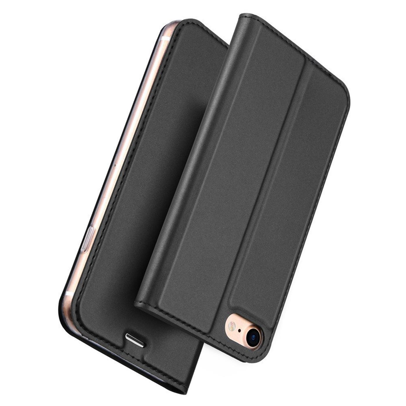 Handy-Huelle-fuer-iPhone-7-iPhone-8-Book-Case-Schutzhuelle-Tasche-Slim-Flip-Cover Indexbild 9