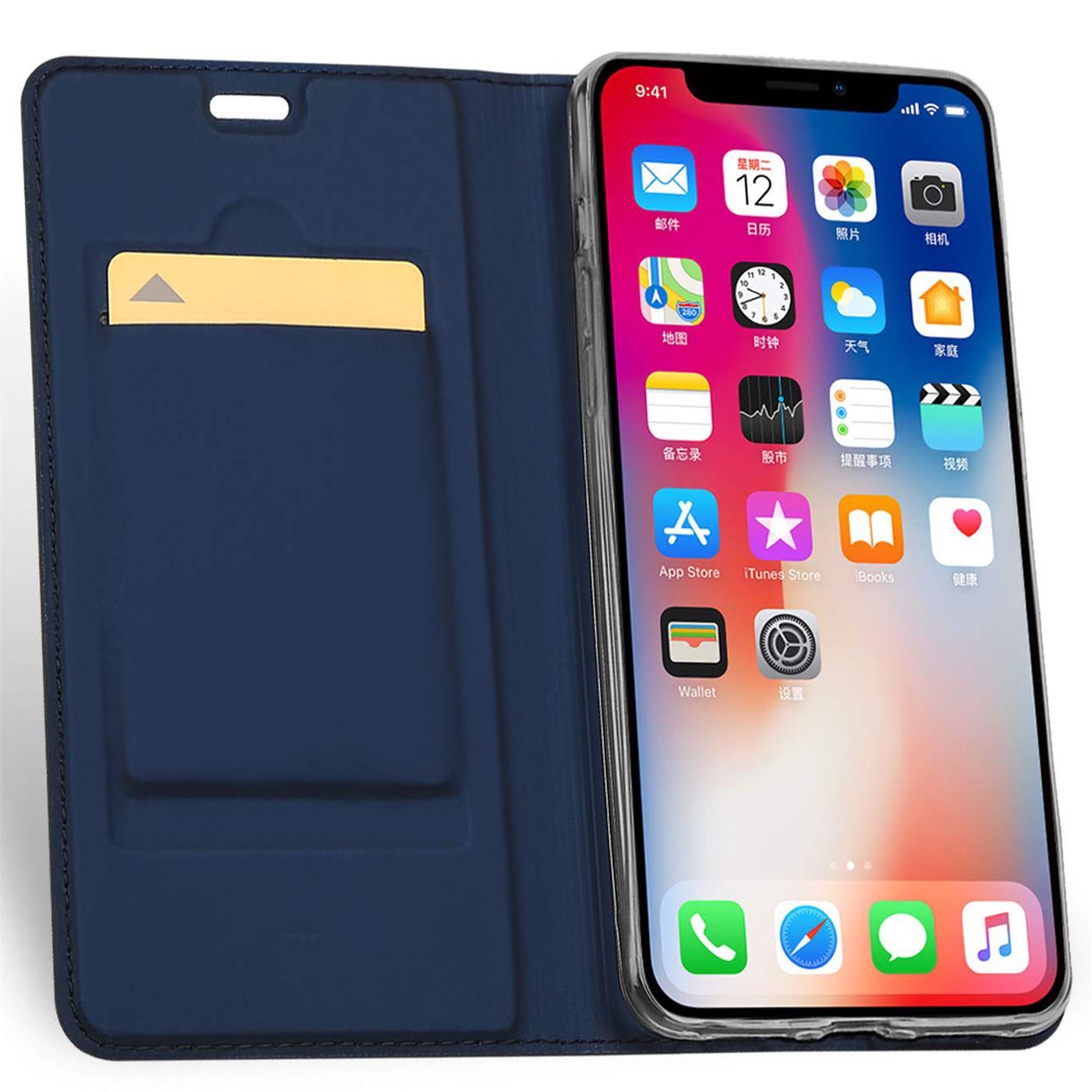 Handyhuelle-Klapp-Tasche-Etui-Schutz-Huelle-Slim-Flip-Cover-Book-Bag-Case-Wallet Indexbild 23
