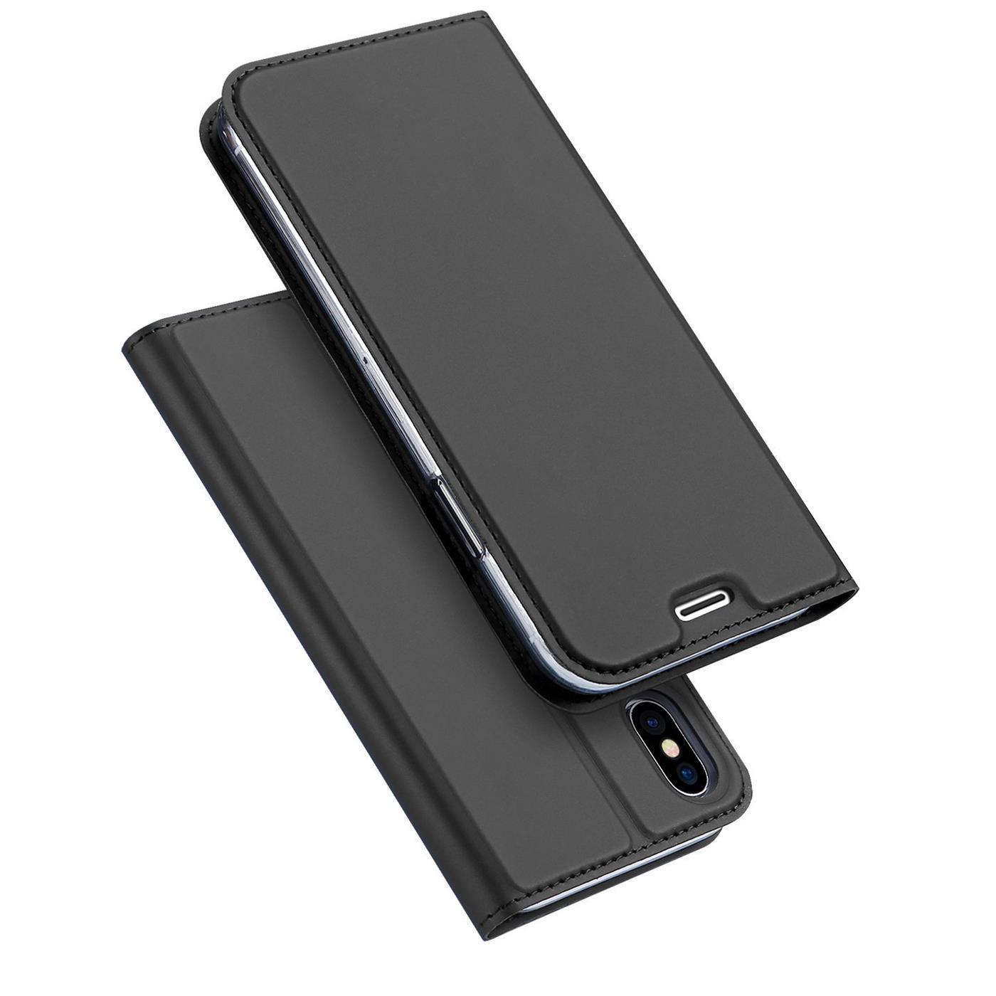 Handyhuelle-Klapp-Tasche-Etui-Schutz-Huelle-Slim-Flip-Cover-Book-Bag-Case-Wallet Indexbild 12