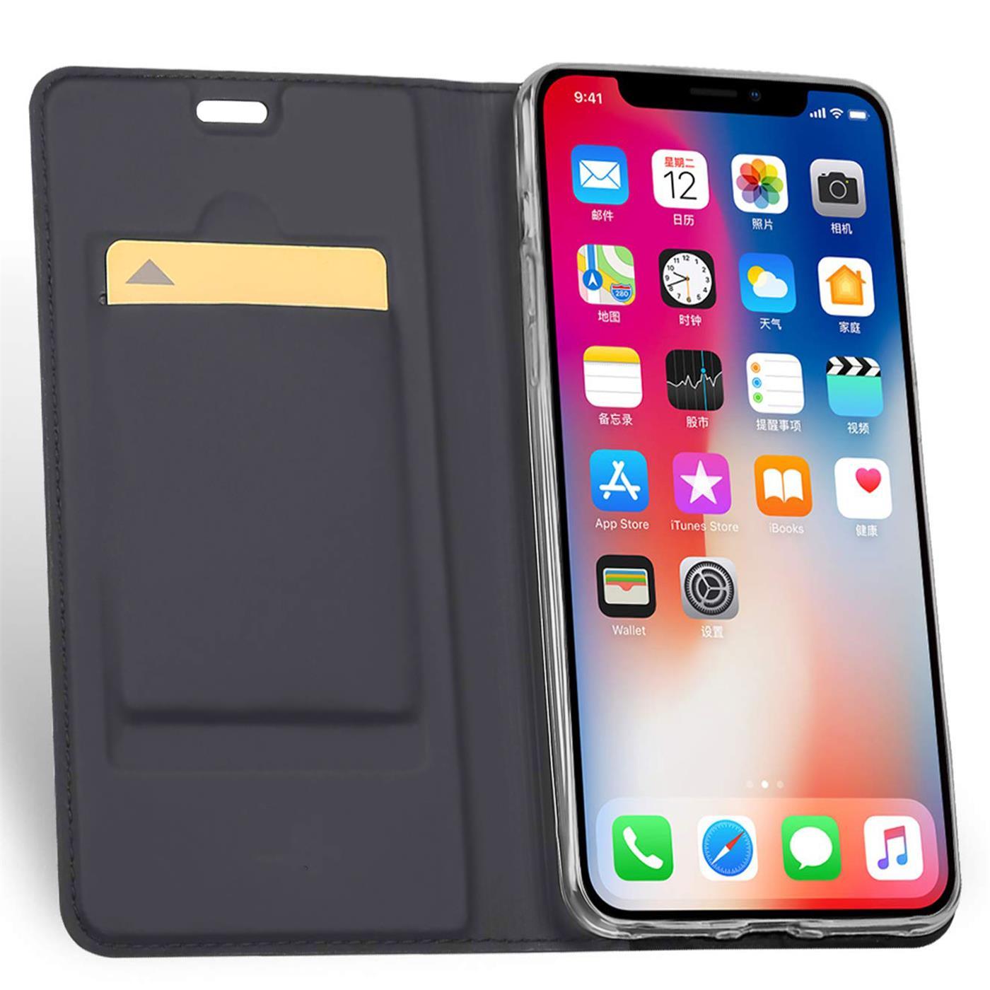 Handyhuelle-Klapp-Tasche-Etui-Schutz-Huelle-Slim-Flip-Cover-Book-Bag-Case-Wallet Indexbild 15