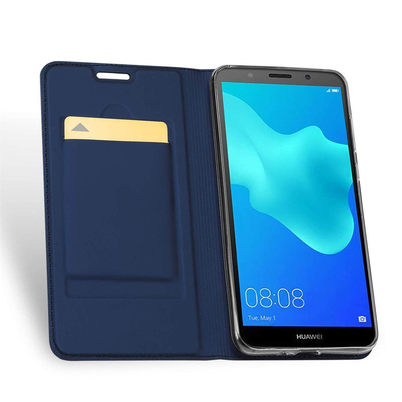 Handy-Huelle-Huawei-Y5-2018-Book-Case-Schutzhuelle-Tasche-Slim-Flip-Cover-Etui Indexbild 12