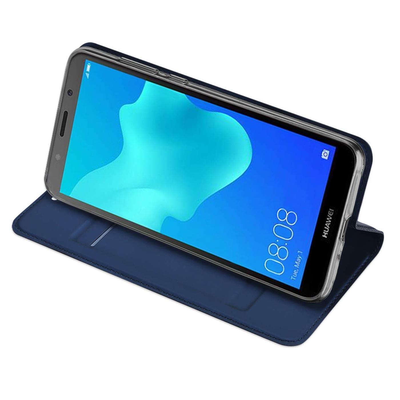 Handy-Huelle-Huawei-Y5-2018-Book-Case-Schutzhuelle-Tasche-Slim-Flip-Cover-Etui Indexbild 13