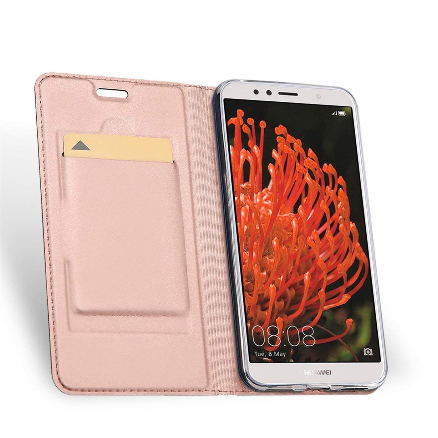 Handy-Huelle-Huawei-Y5-2018-Book-Case-Schutzhuelle-Tasche-Slim-Flip-Cover-Etui Indexbild 15