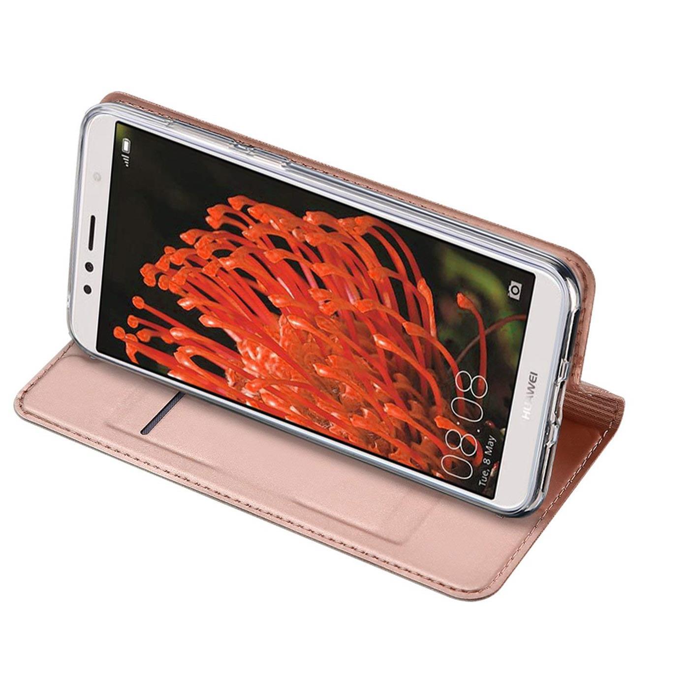 Handy-Huelle-Huawei-Y5-2018-Book-Case-Schutzhuelle-Tasche-Slim-Flip-Cover-Etui Indexbild 16