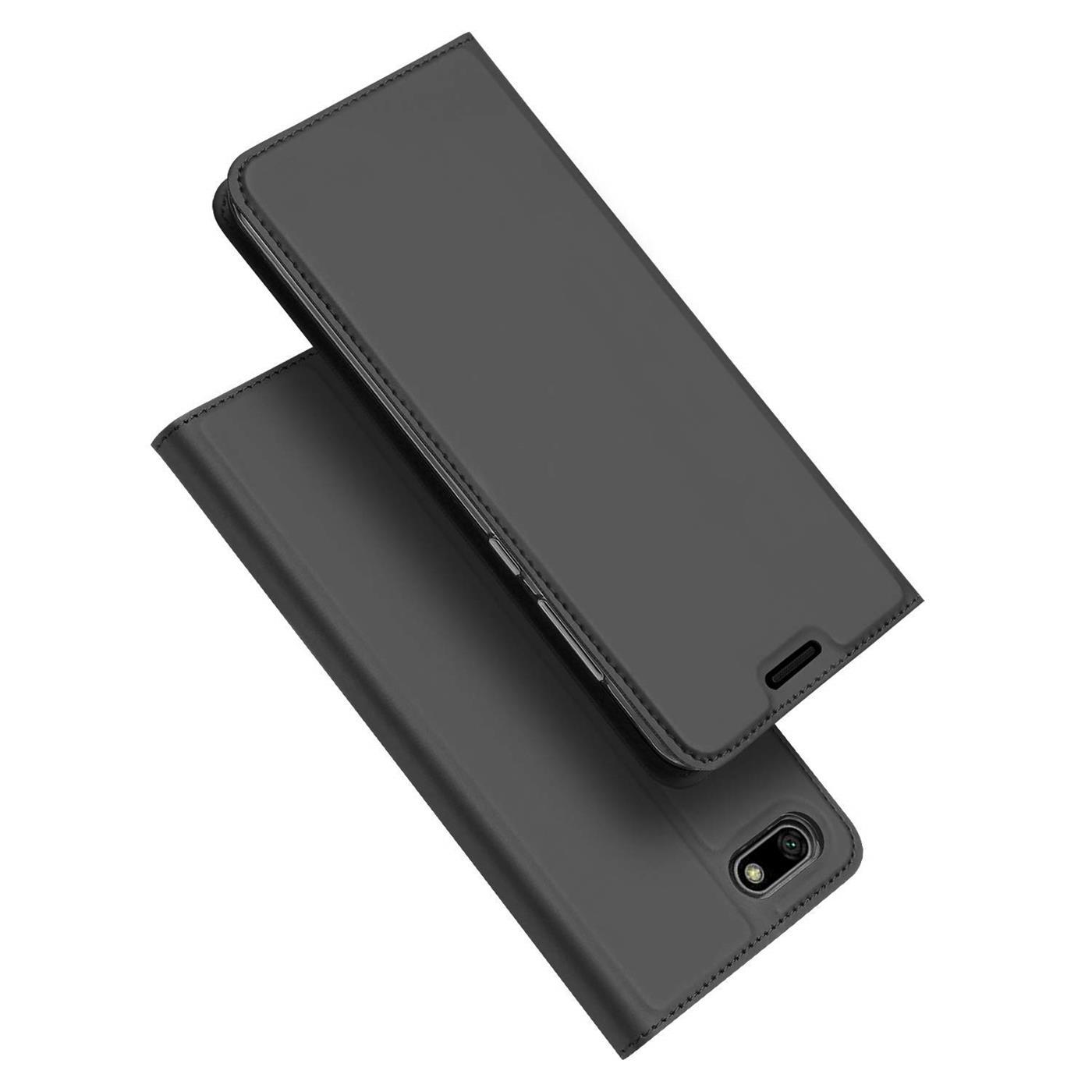 Handy-Huelle-Huawei-Y5-2018-Book-Case-Schutzhuelle-Tasche-Slim-Flip-Cover-Etui Indexbild 9
