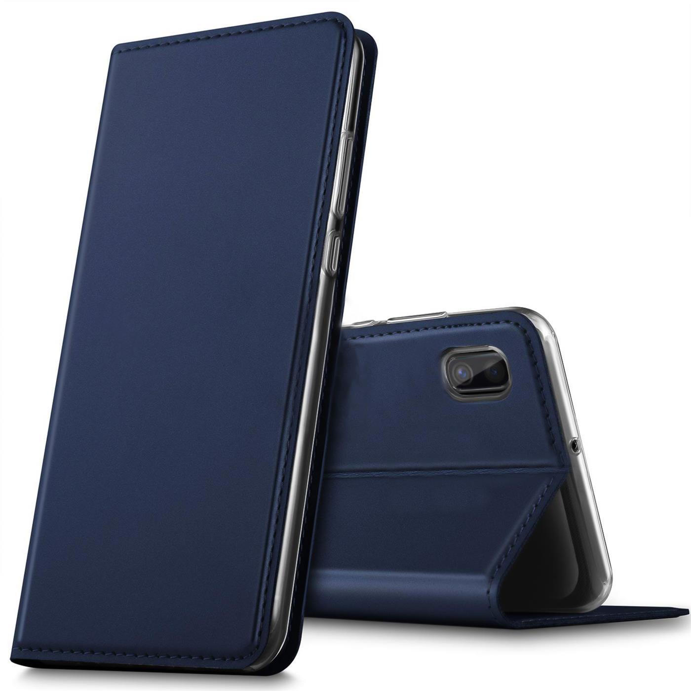 Samsung-Galaxy-A10-Handy-Schutz-Huelle-Tasche-Flip-Case-Klapphuelle-Schutzhuelle Indexbild 12