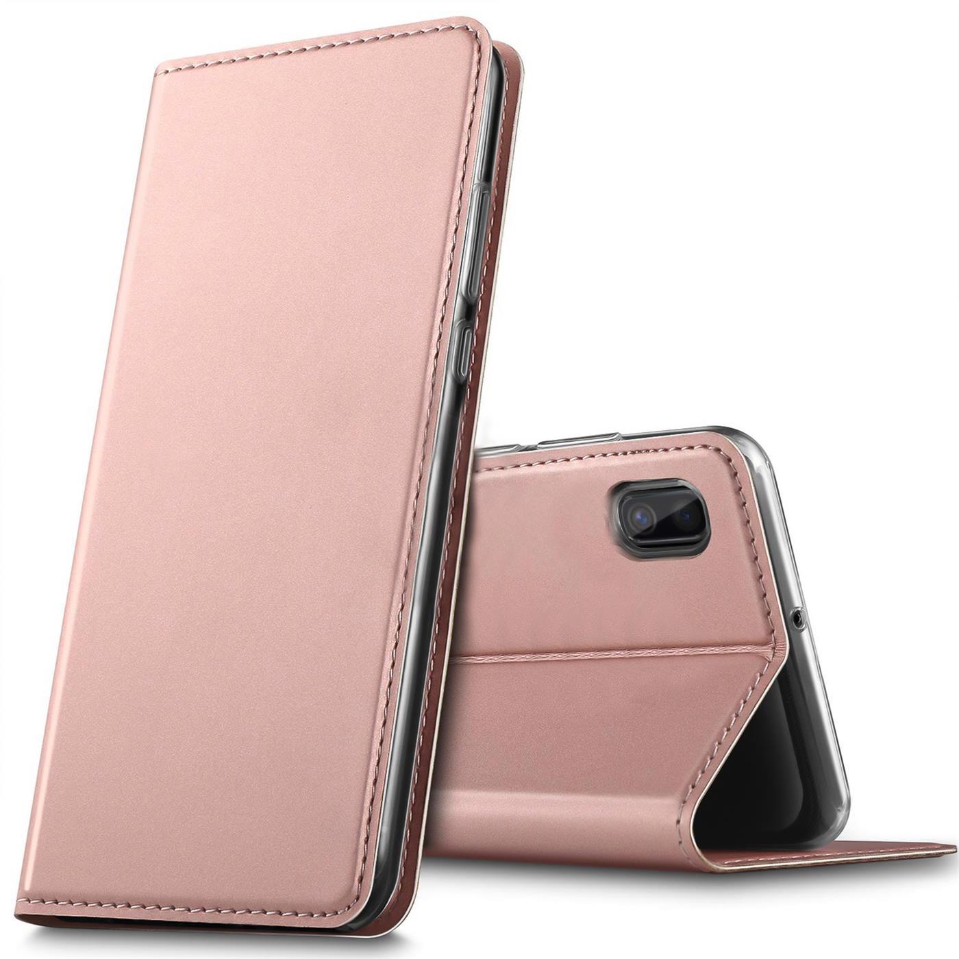 Samsung-Galaxy-A10-Handy-Schutz-Huelle-Tasche-Flip-Case-Klapphuelle-Schutzhuelle Indexbild 16
