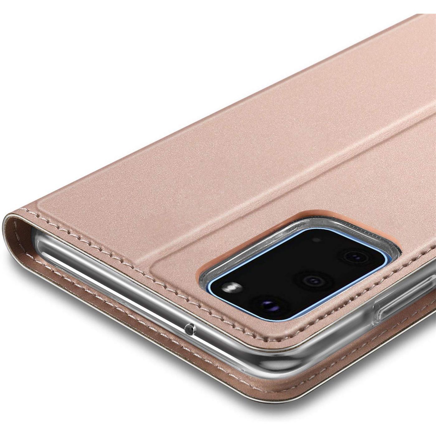 Handy-Huelle-Samsung-Galaxy-A51-Book-Case-Schutzhuelle-Tasche-Slim-Flip-Cover-Etui Indexbild 15
