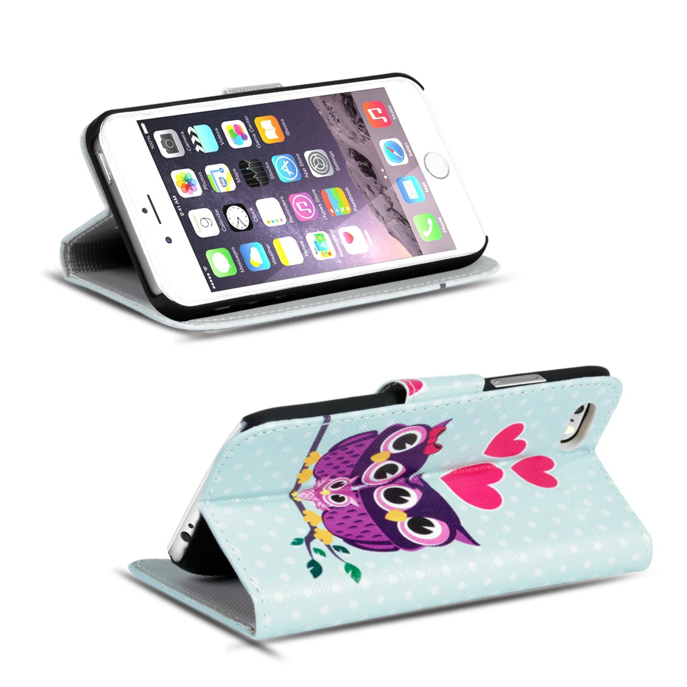 Handy Hülle mit Motiv Apple iPhone Schutz Tasche Flip Cover Case Etui Bumper