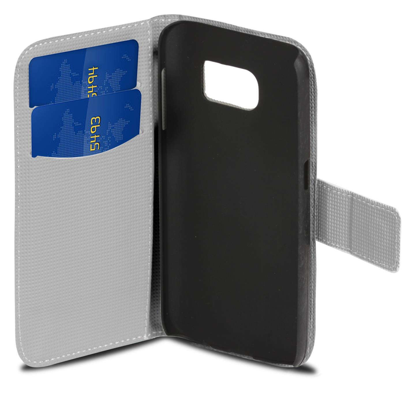 Design-Book-Wallet-Case-for-Samsung-Galaxy-S7-Edge-PU-Leather-Flip-Cover-Holder thumbnail 3