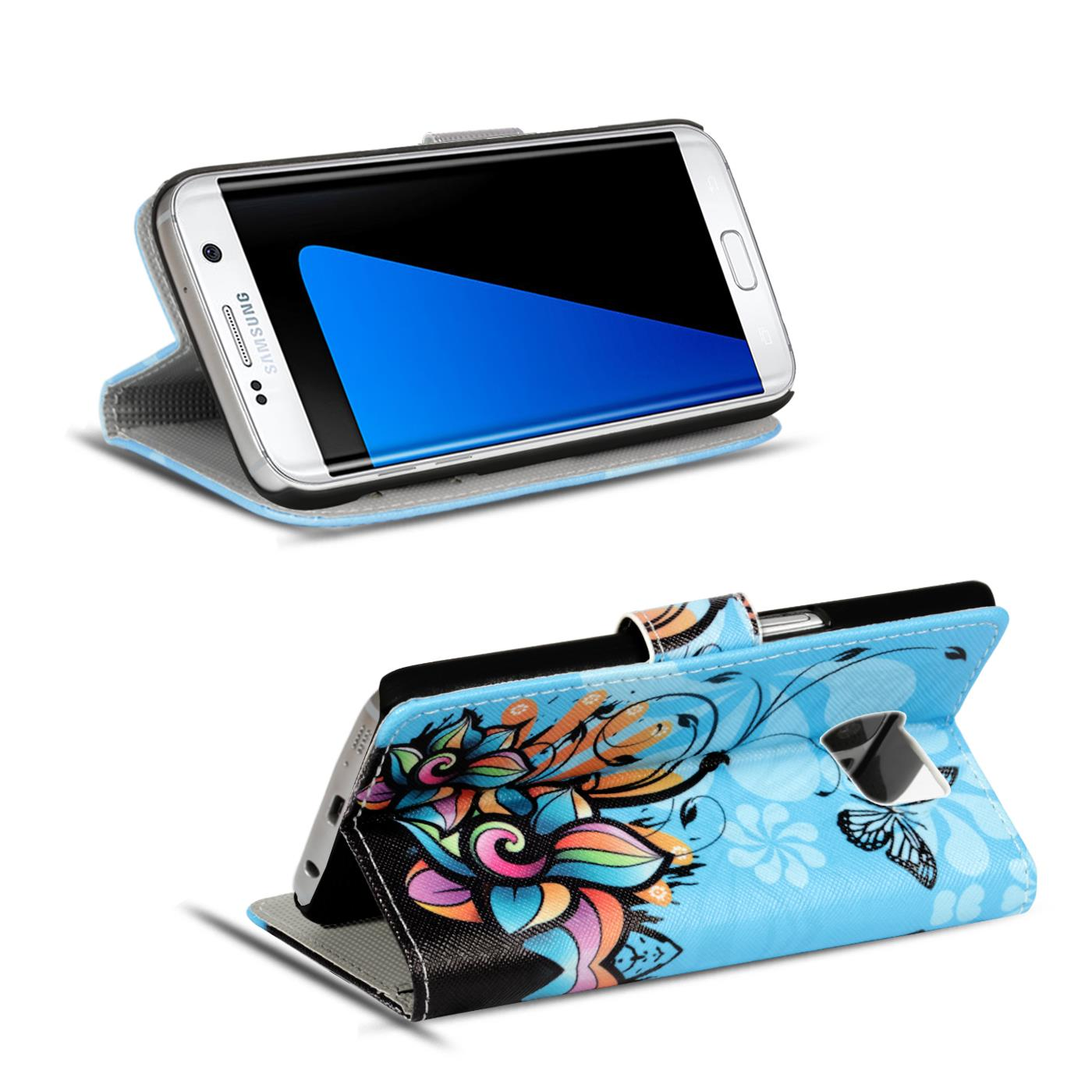 Design-Book-Wallet-Case-for-Samsung-Galaxy-S7-Edge-PU-Leather-Flip-Cover-Holder thumbnail 48