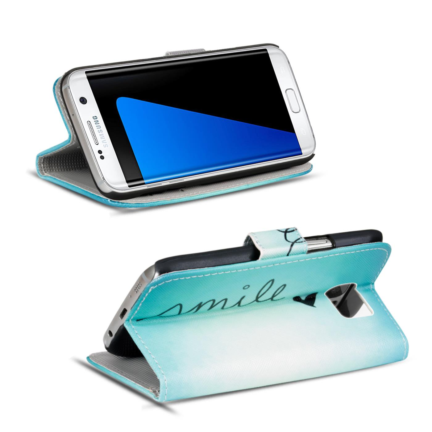 Design-Book-Wallet-Case-for-Samsung-Galaxy-S7-Edge-PU-Leather-Flip-Cover-Holder thumbnail 52