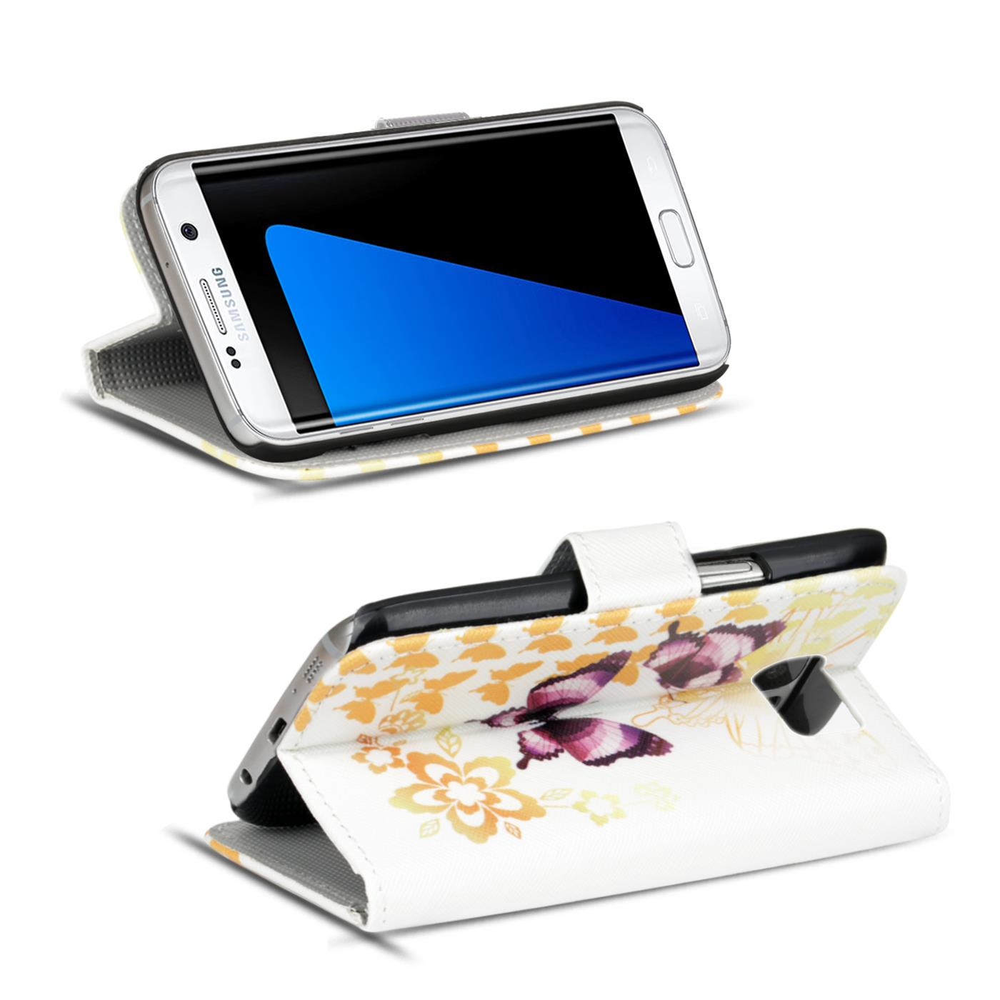 Design-Book-Wallet-Case-for-Samsung-Galaxy-S7-Edge-PU-Leather-Flip-Cover-Holder thumbnail 56