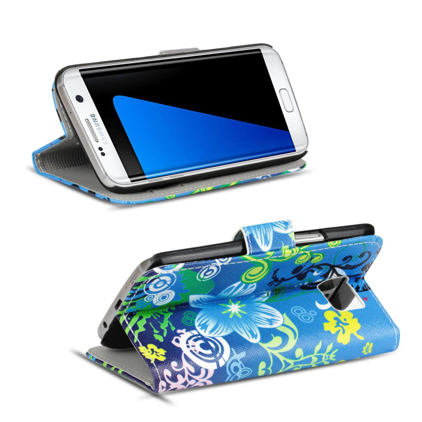 Design-Book-Wallet-Case-for-Samsung-Galaxy-S7-Edge-PU-Leather-Flip-Cover-Holder thumbnail 60