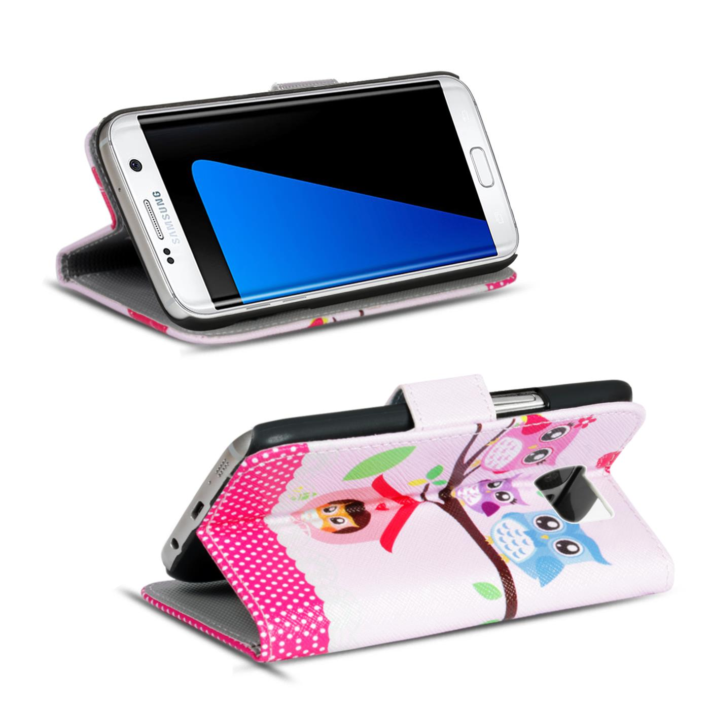 Design-Book-Wallet-Case-for-Samsung-Galaxy-S7-Edge-PU-Leather-Flip-Cover-Holder thumbnail 64