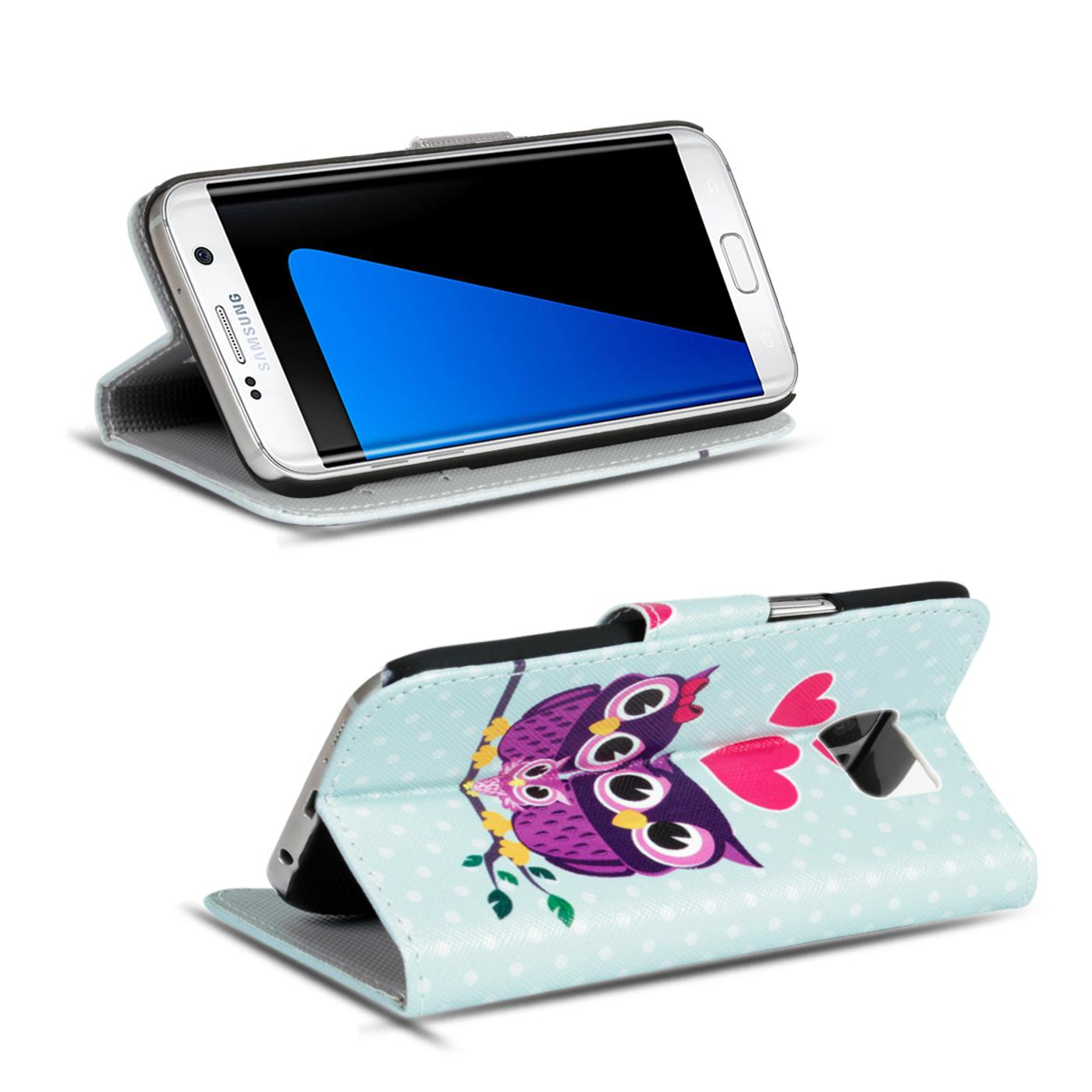 Design-Book-Wallet-Case-for-Samsung-Galaxy-S7-Edge-PU-Leather-Flip-Cover-Holder thumbnail 68