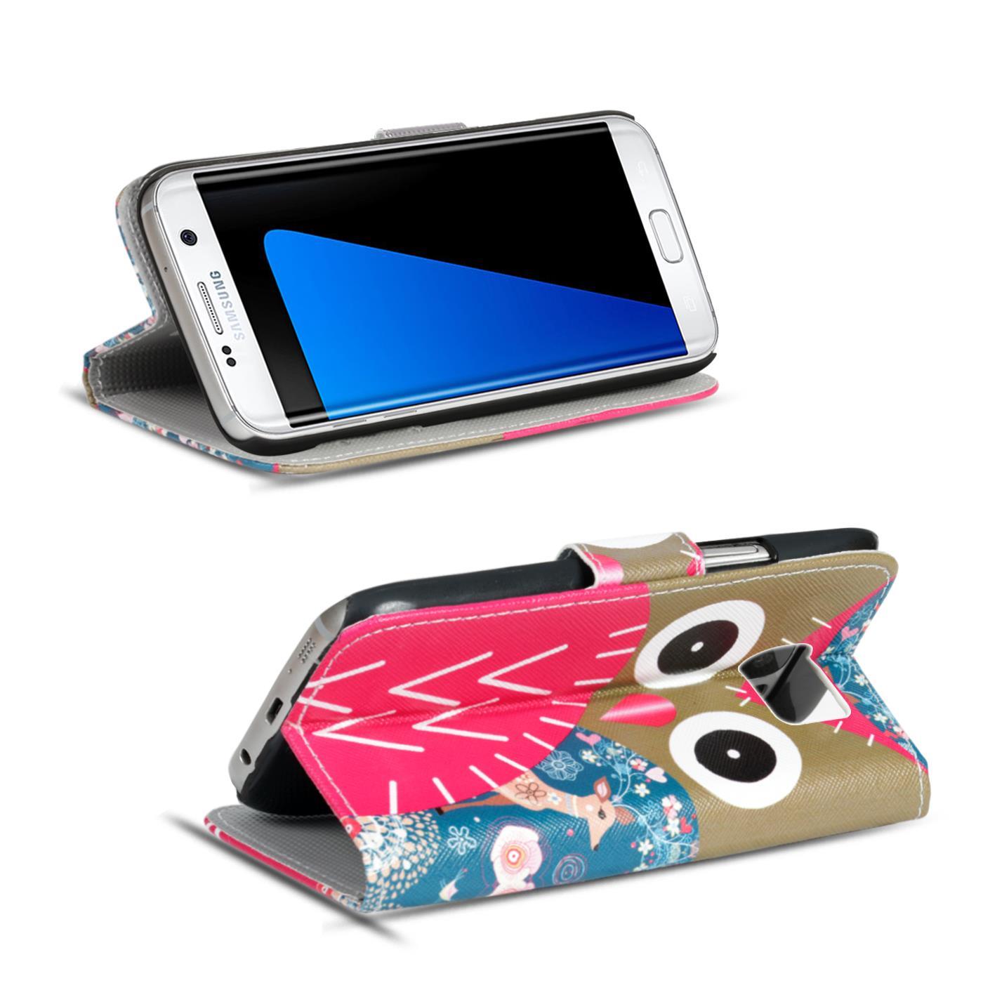 Design-Book-Wallet-Case-for-Samsung-Galaxy-S7-Edge-PU-Leather-Flip-Cover-Holder thumbnail 72