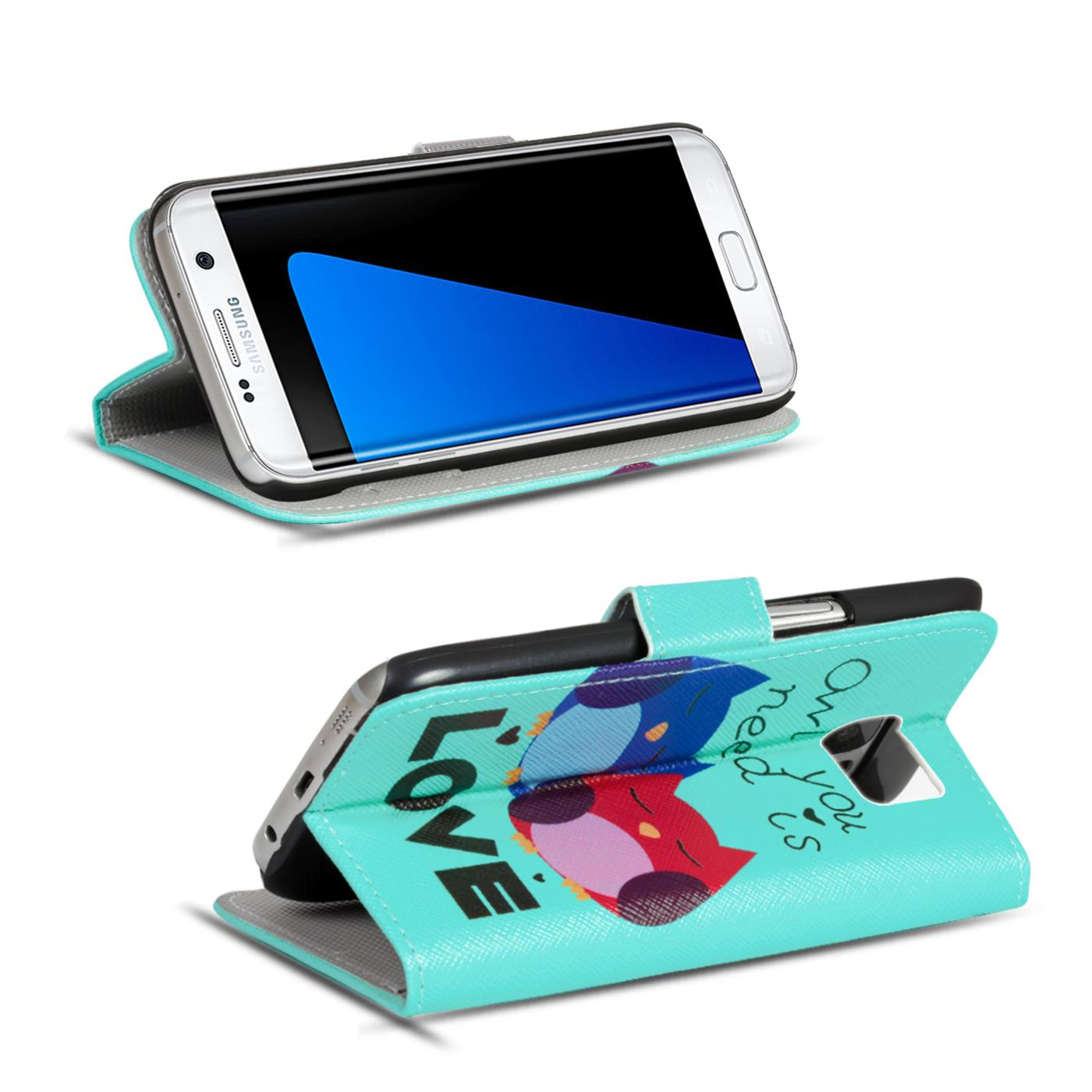 Design-Book-Wallet-Case-for-Samsung-Galaxy-S7-Edge-PU-Leather-Flip-Cover-Holder thumbnail 76