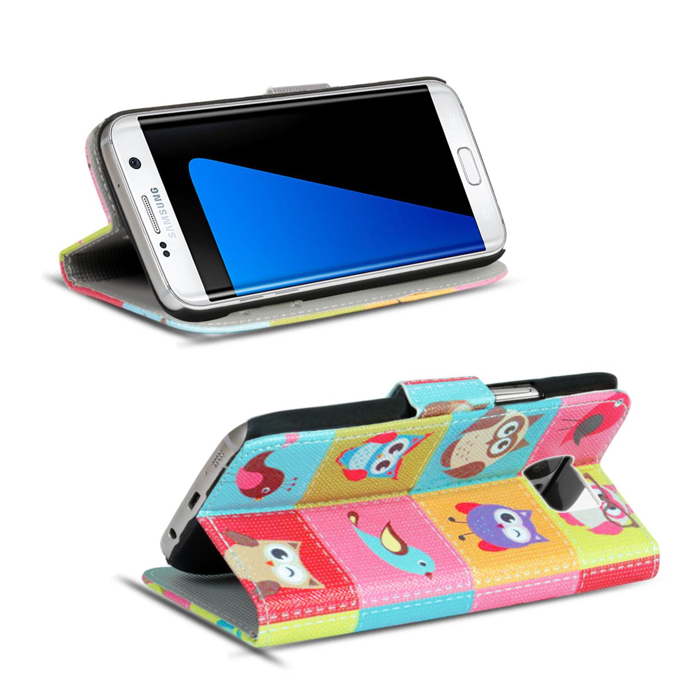Design-Book-Wallet-Case-for-Samsung-Galaxy-S7-Edge-PU-Leather-Flip-Cover-Holder thumbnail 80