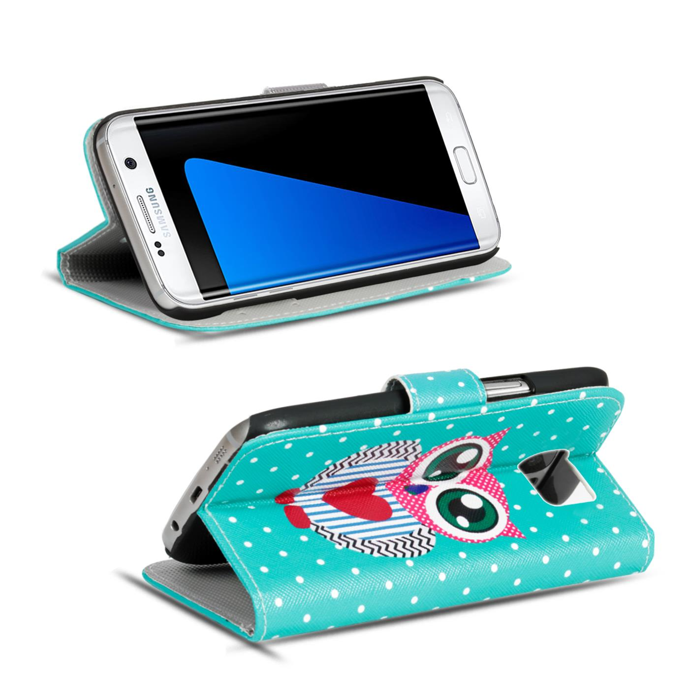 Design-Book-Wallet-Case-for-Samsung-Galaxy-S7-Edge-PU-Leather-Flip-Cover-Holder thumbnail 84