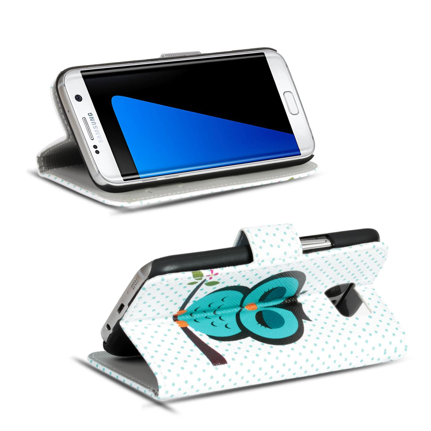 Design-Book-Wallet-Case-for-Samsung-Galaxy-S7-Edge-PU-Leather-Flip-Cover-Holder thumbnail 88
