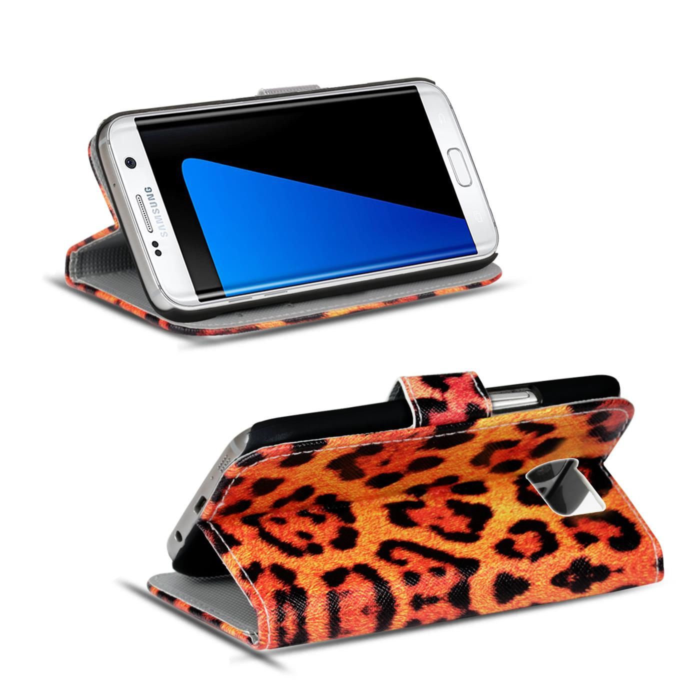 Design-Book-Wallet-Case-for-Samsung-Galaxy-S7-Edge-PU-Leather-Flip-Cover-Holder thumbnail 24