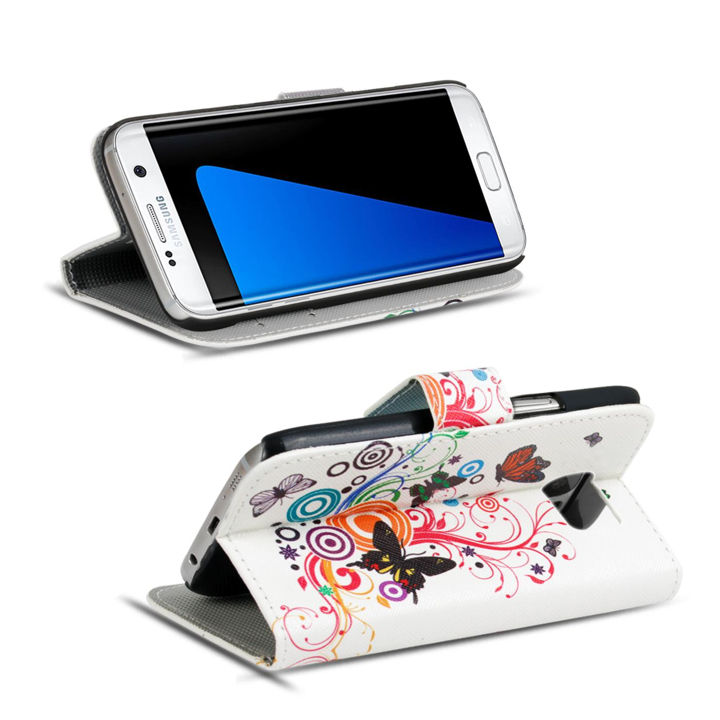 Design-Book-Wallet-Case-for-Samsung-Galaxy-S7-Edge-PU-Leather-Flip-Cover-Holder thumbnail 36
