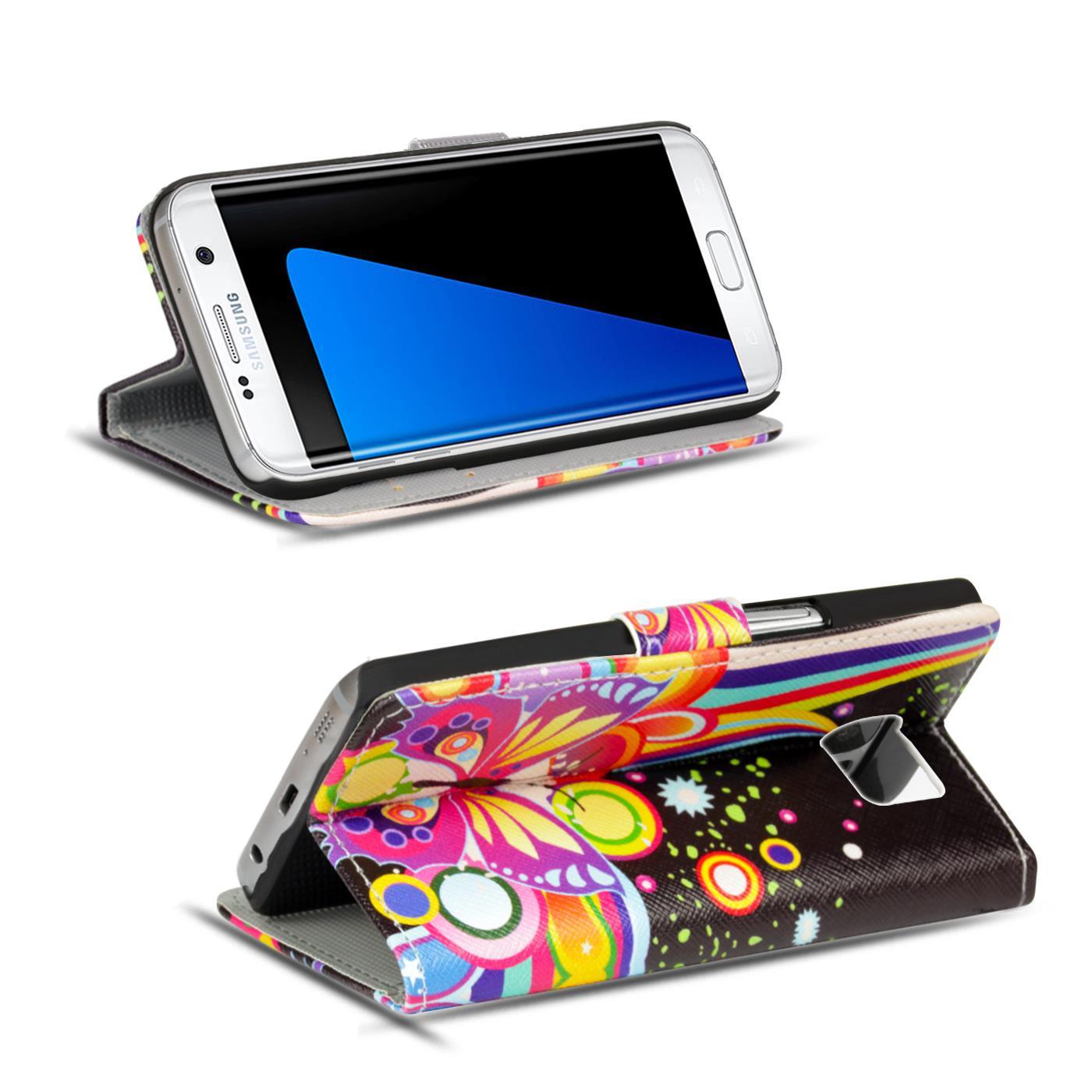 Schutz-Huelle-fuer-Samsung-Galaxy-Handy-Tasche-Flip-Cover-Wallet-Etui-Case-Schale Indexbild 7