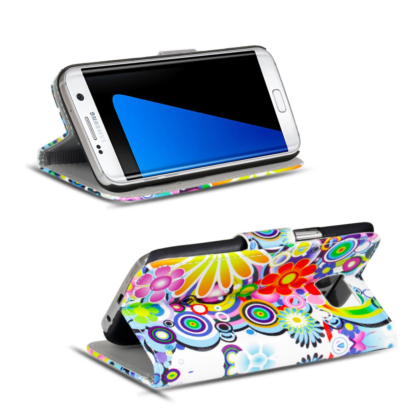 Schutz-Huelle-fuer-Samsung-Galaxy-Handy-Tasche-Flip-Cover-Wallet-Etui-Case-Schale Indexbild 11