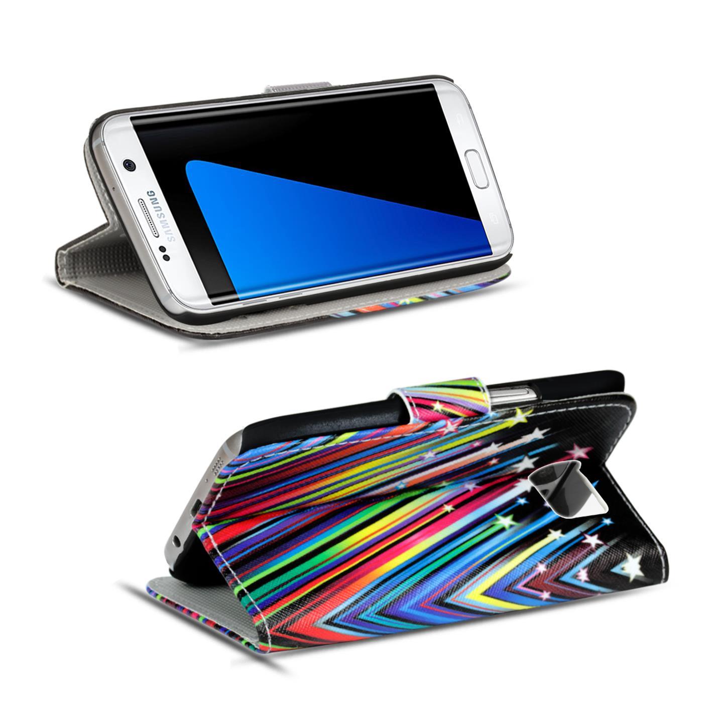 Schutz-Huelle-fuer-Samsung-Galaxy-Handy-Tasche-Flip-Cover-Wallet-Etui-Case-Schale Indexbild 23