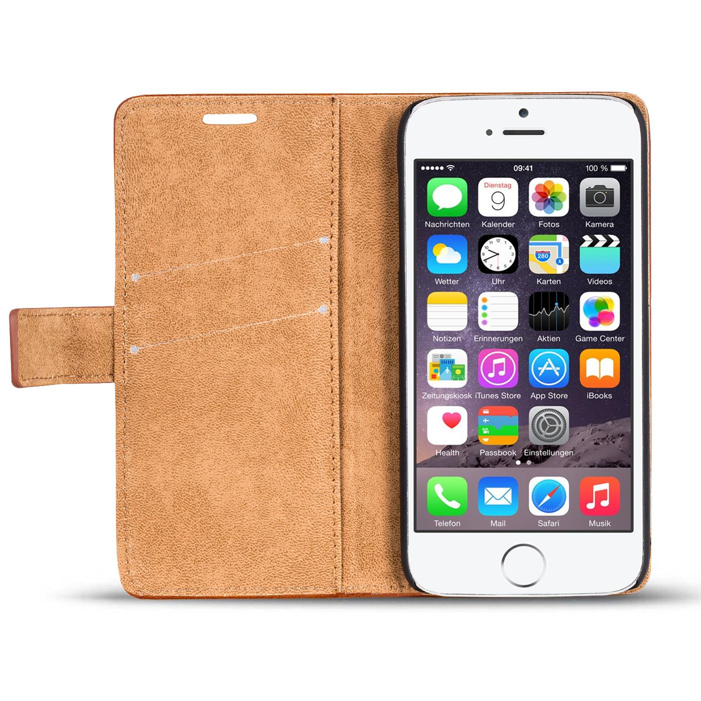 handy tasche h lle apple iphone 6s 6 case klapph lle pu. Black Bedroom Furniture Sets. Home Design Ideas