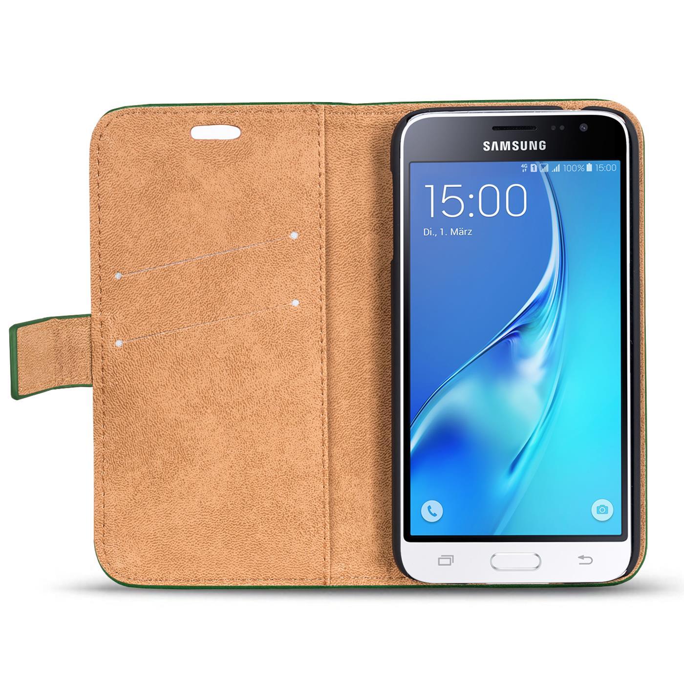 Handy-Tasche-Huelle-Samsung-Galaxy-J1-2016-Case-Klapphuelle-PU-Leder-Wallet-Cover Indexbild 4