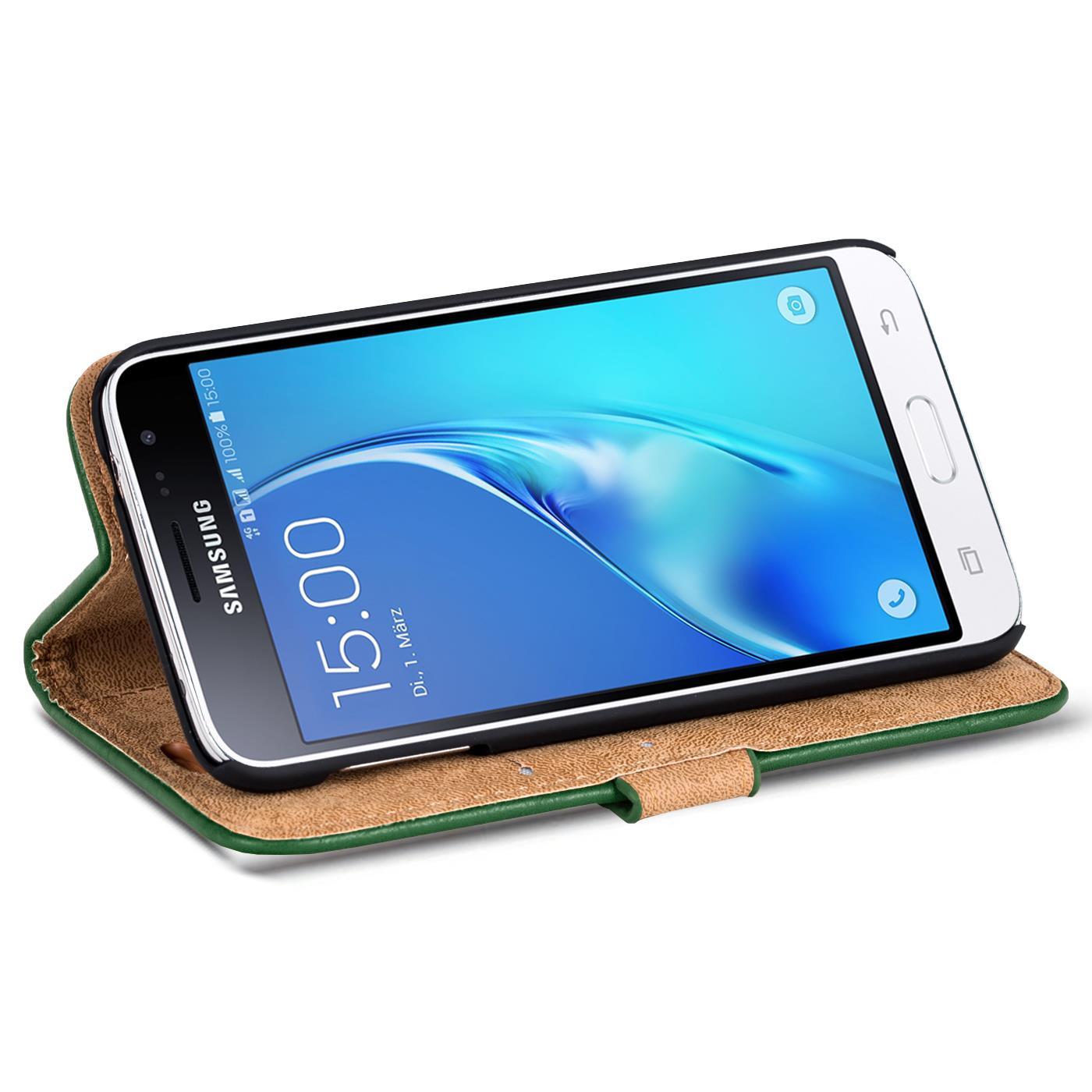 Handy-Tasche-Huelle-Samsung-Galaxy-J1-2016-Case-Klapphuelle-PU-Leder-Wallet-Cover Indexbild 5