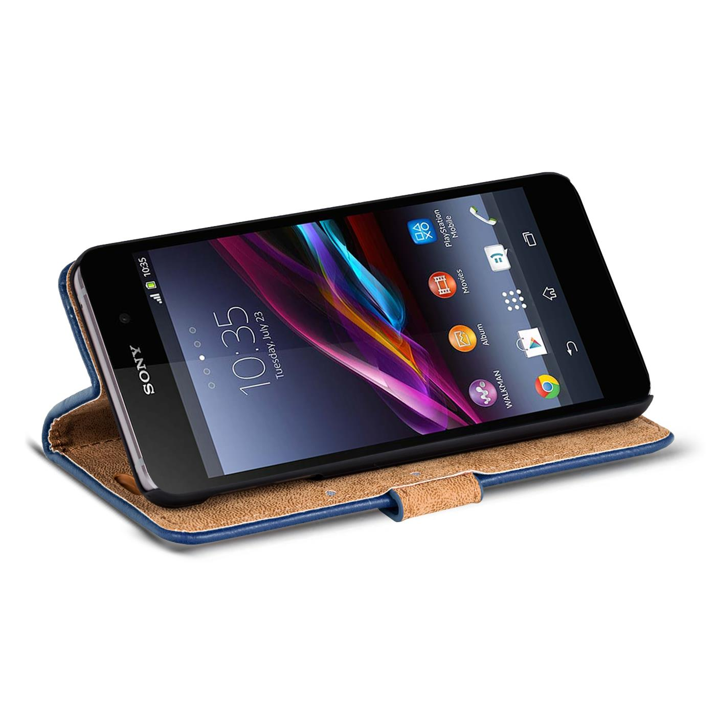 handy tasche sony xperia z1 compact flip cover case schutz. Black Bedroom Furniture Sets. Home Design Ideas