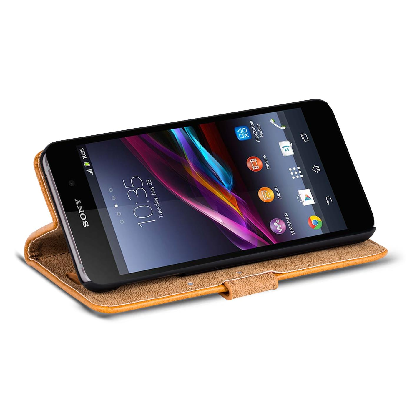 Phone Case Sony Xperia Z1 Compact Flip Cover CaseXperia Z1 Protective Case