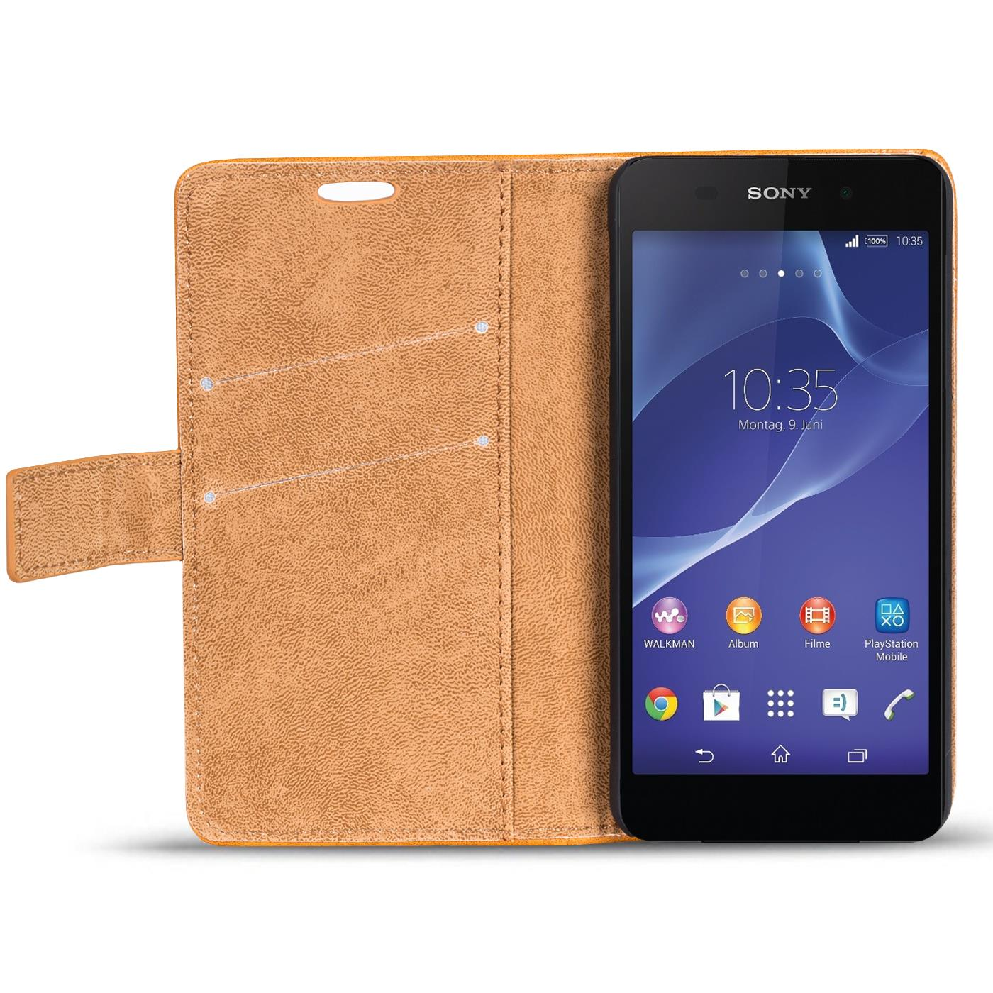 Handy Tasche Hülle Sony Xperia Z2 Case Klapphülle PU Leder ...