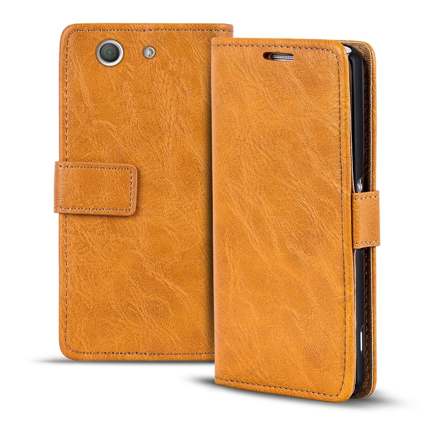 Handy-Tasche-Huelle-Sony-Xperia-Z3-Compact-Case-Klapphuelle-PU-Leder-Wallet-Cover